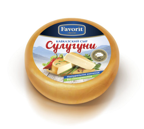 "Сыр свежий ""Favorit cheese"" сулугуни копченый"